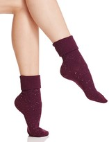 Hue Roll Cuff Tweed Socks