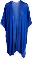 Royal Blue Slit Maternity Open Cardigan