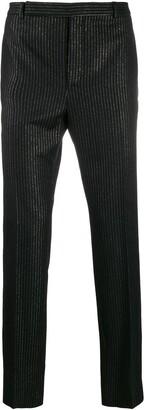 Saint Laurent Metallic Stripe Tailored Trousers