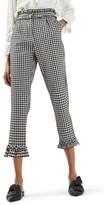 Topshop Women's Gingham Ruffle Trousers