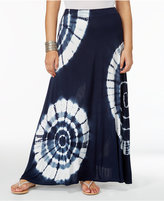 INC International Concepts Plus Size Tie-Dyed Maxi Skirt, Only at Macy's