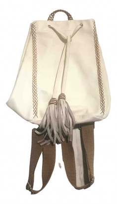 Callista Crafts White Leather Backpacks