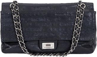 One Kings Lane Vintage Chanel Maxi Double Flap Black Bag - Vintage Lux