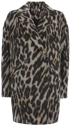 Mint Velvet Animal Textured Cocoon Coat