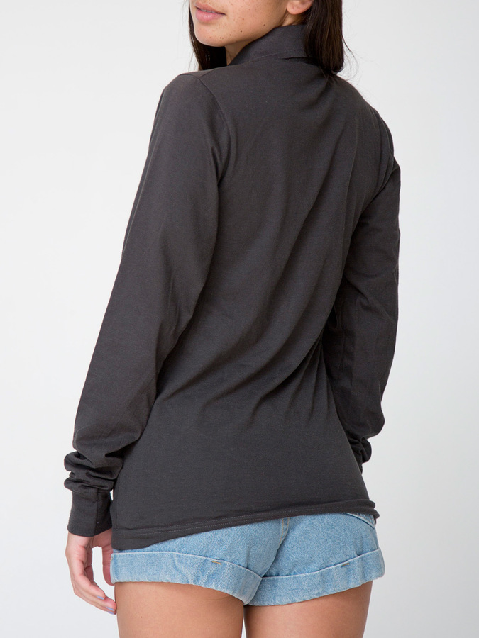 American Apparel Unisex Fine Jersey Long Sleeve Leisure Shirt
