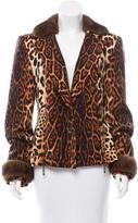 Christian Dior Mink-Trimmed Wool Jacket