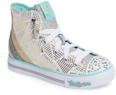 Skechers Girl's Twinkle Toes Step Up Light-Up Sneaker