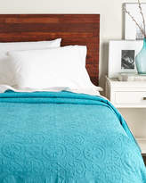 Karma Living Turquoise Applique Coverlet