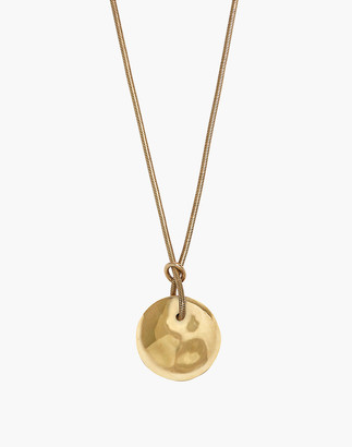 Madewell Soko Ripple Disc Pendant Necklace