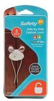Safety 1st Side by Side Cabinet Lock - 2 Packs Of 2 Count = 4 Count by