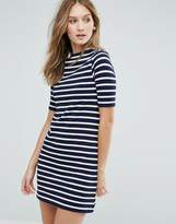 French Connection Terry Stripe T-Shirt Dress