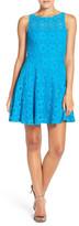 BB Dakota &Renley& Lace Fit & Flare Dress