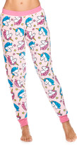Sleep & Co Women's Sleep Bottoms LTPNK - Light Pink Unicorn Plush Jogger Pajama Pants - Juniors