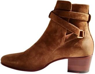 Saint Laurent Blaze Camel Suede Ankle boots