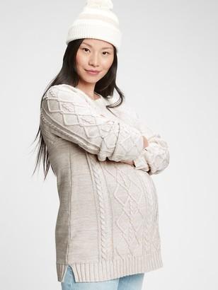 Gap Maternity Cable-Knit Crewneck Sweater