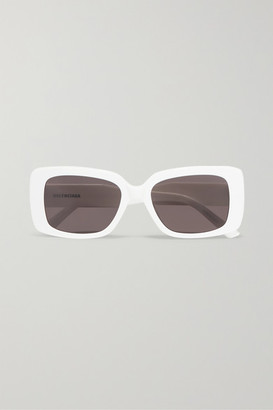 Balenciaga Oversized Square-frame Acetate Sunglasses - White