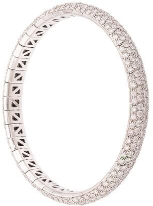 Mattia Cielo 18kt White Gold Diamond Bangle