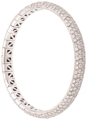 Mattia Cielo 18kt White Gold Diamond Bangle