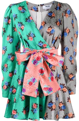MSGM Floral-Print Dress