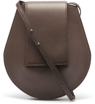 Tsatsas Cy Medium Grained-leather Shoulder Bag - Dark Brown