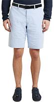 Hugo Boss Boss Green C-clyde2-6 Micro Stripe Chino Shorts, Medium Blue