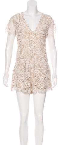 Alexis Lace V-Neck Romper w/ Tags