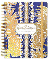Lilly Pulitzer Flamenco Navy 2017-2018 Large Agenda