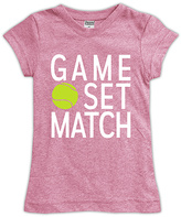 Urban Smalls Heather Pink 'Game Set Match' Fitted Tee - Toddler & Girls