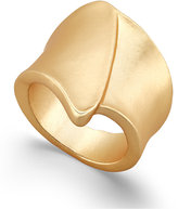 INC International Concepts Gold-Tone Matte Metal Overlay Ring, Only at Macy's