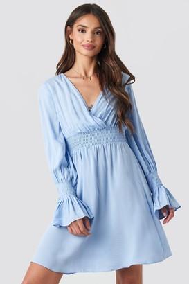 BEIGE Trendyol Elastic Waist LS Dress