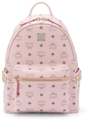 MCM Logo-Print Zipped Backpack