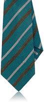 Kiton Men's Striped Linen-Silk Necktie