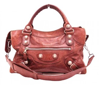Balenciaga Classic Metalic Brown Leather Handbags