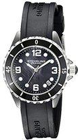 Stuhrling Original Women's 954.12B627 Seraph Quartz Date Black Mother-Of-Pearl Dial Watch