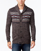Retrofit Men's Geometric Shawl-Collar Cardigan