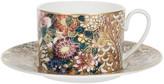 Roberto Cavalli Golden Flowers Teacup & Saucer