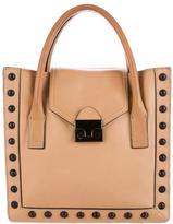 Loeffler Randall Studded Leather Satchel Bag