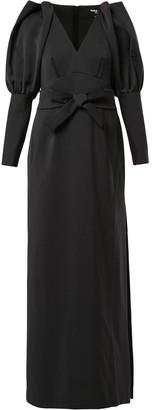 Paule Ka pleated sleeve evening gown