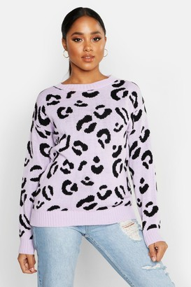 boohoo Leopard Knitted Sweater