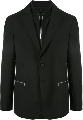 Emporio Armani Layered Zipped Blazer