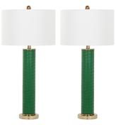 Safavieh Ollie Faux Alligator Table Lamp (set of 2)