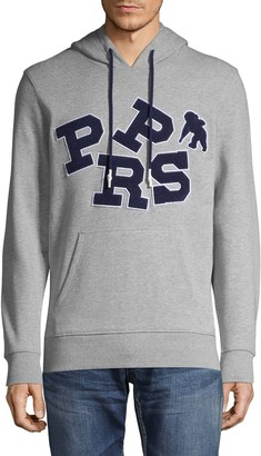 PRPS Logo Patch Heathered Cotton-Blend Hoodie
