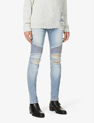 Balmain Brand-patch ripped jeans