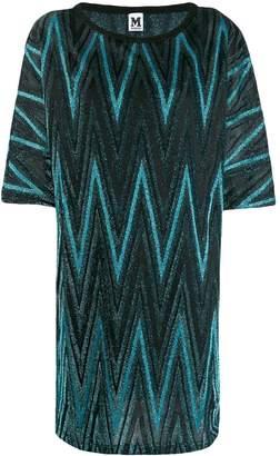 M Missoni zigzag metallic shift dress