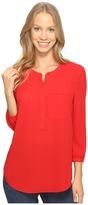 NYDJ 3/4 Sleeve Pleat Back Women's Blouse