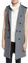 Rag & Bone Ashton Tailored Wool-Blend Vest, Heather Gray