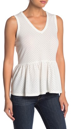 Nanette Nanette Lepore Eyelet Sleeveless V-neck Top