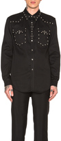 Givenchy Two Pocket Studded Denim Shirt