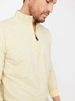 J.Mclaughlin Clermont 1/4 Zip in Stripe