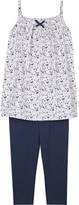 The Little White Company Esther cotton tunic and leggings set 1-6 years